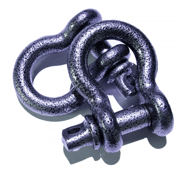 Gray Pitted D-Ring Shackles