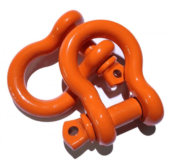 Orange D Ring Shackles