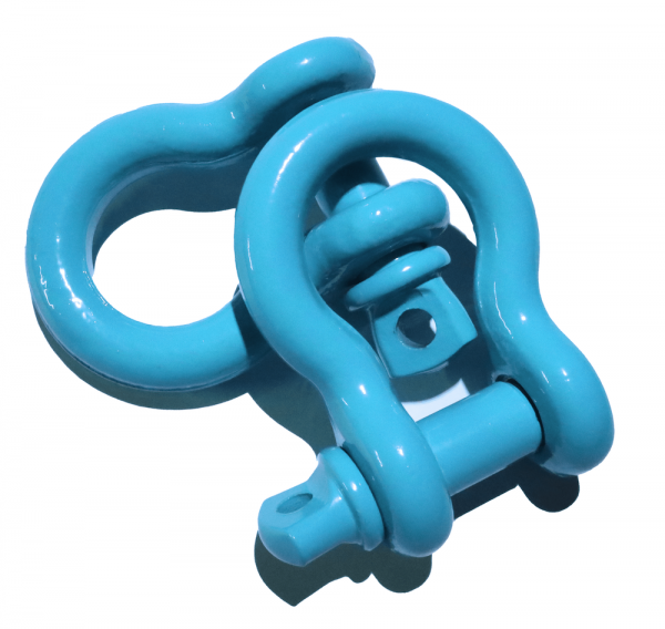 Teal D Ring Shackles